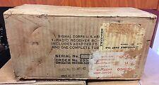 Arc-5 Radio shipping box Original Signal Corps. Us Western Electric 1945 Rare