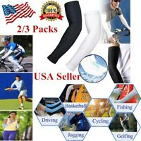 2/3Pair Cooling Arm Sleeves Cover UV Sun Protection Outdoor Basketball Sport
