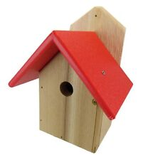 Nature Products USA Chickadee Birdhouse, Red Recycled Poly Lumber Roof, WREN-4R