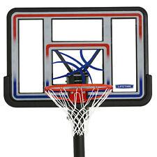 "Basketball Hoop In-Ground 44"" Shatterproof Backboard Adjustable System Outdoor"