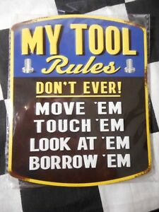 "New Magnetic Tool Box Magnet - ""Let Everyone Know Your Rules"" 5"" by 4"" Inches"