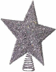 Kurt Adler 12-Inch Silver Glitter Star Treetop