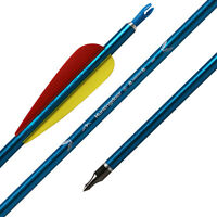 "31"" 6pcs Aluminum Arrow Nocks 7.6mm Shaft Archery Hunting Practice Screw-in Tips"