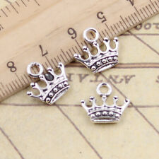 Charms crown princess 13x11mm Tibetan Silver Plated Pendants Antique