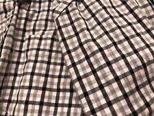Gymboree Little Boys Black Gray plaid dress shirt holidays pictures small 5 6