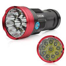 10000LM SKYRAY 10 x CREE XM-L R8 LED Flashlight  4 x 18650 Torch Hunting Lamp