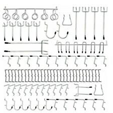 Pegboard Hooks Heavy Duty Boutiques Assortment Organizer Silver Durable