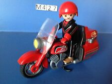 (M427) playmobil moto type goldwine rouge rider ref 3062