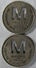 2 - Washington DC Metrobus Tokens M Cut Out Center SEE PICTURES whotoldya Lot 18