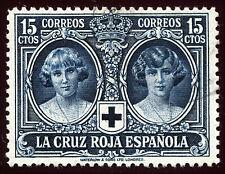 ESPAÑA 1926. Pro Cruz Roja Española. 15 c. azul negruzco. Usado. Edifil 329.