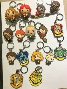 Lots Harry Potter Keychain Rubber Key Ring Pendant Collectables Gift