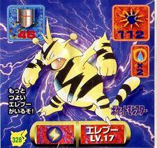 POKEMON STICKER Carte JAPANESE 50X50 1997 NORM@L N° 328 ELECTABUZZ ELEKTEK
