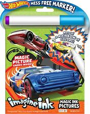 NEW Hot Wheels 12-Page Imagine Ink Magic Pictures Activity Book, Great Gift Idea