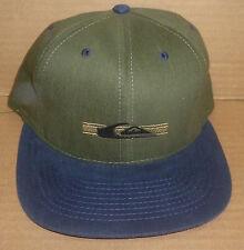 Vintage green/blue Quiksilver surf skateboard Pantai Watu Karung snap back hat