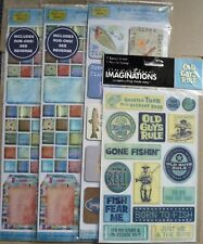 Creative Imaginations & Paper Adventures Fishing Stickers Embellishments 4 Packs