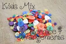 KIDS MIX - Mixed Bulk Buttons 250+ Craft Scrapbooking Bouquet Mixed Colours