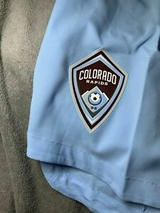NWT Men's Adidas AeroReady MLS Colorado Rapids Soccer Shorts Size Large FI0661