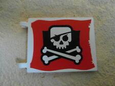 Lego ® Piratenfahne / Flagge groß für Piratenschiff Piratenfestung Pirateninsel