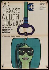 HOW TO STEAL A MILLION Polish A1 movie poster AUDREY HEPBURN HIBJNER art