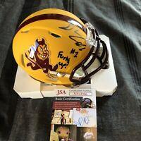 Chip Trayanum Signed Helmet Autographed Auto Arizona State Sun Devils + JSA COA