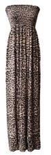 Womens Strapless Maxi Dress Ladies Sheering Floral Boobtube Bandeau Long Maxi