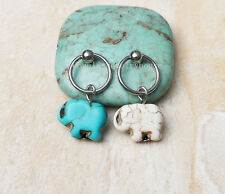 2pcs Elephant Cbr Captive Bead Ring Cartilage Hoop Helix Cartilage earrings