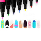 16 Color Nail Art Pen Painting Design Tool Drawing for UV Gel Polish Manicure CA