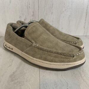 Margaritaville Canvas Slip-On Boat Shoes Light Tan US Men's Size 12 MFM181205