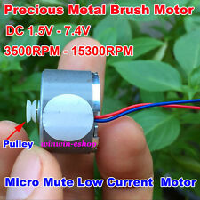 DC 1.5V 3V 6V 13000RPM High Speed Micro 22mm Mute Spindle Round Motor Pulley
