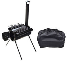 Portable Military Camping Steel Wood Stove Tent Heater For Cooking BBQ With Bag