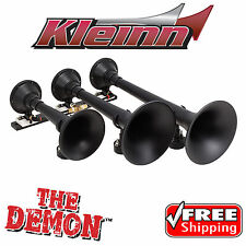 Kleinn 730 Air Horns The Demon Train Horn Triple Trumpet 157.8db at 150psi Black