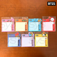 BTS BT21 Official Authentic Goods Deco Sticky Memo 7SET BITE Ver by Kumhong