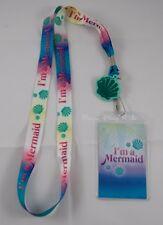 Disney The Little Mermaid  I'm  a Ariel ID Card Holder Lanyard Neckstrap W/Charm