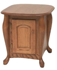 #1031 Solid Oak Queen Anne Storage End Table