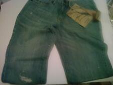 Anchor Blue Straight Leg 29 x 30 Destroyed Jeans NWT $49.95 100% Cotton