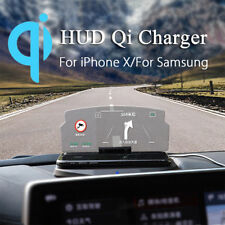 Wireless Charger Car HUD Holder Head Up Display Bracket For GPS Navigation Phone