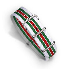 One-Piece 20mm Lancia Stratos Rally Inspired Racing Strap Nylon Watch Band