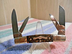 VINTAGE BOKER SOLINGEN GERMANY TREE BRAND OLDE STAG CONGRESS POCKET KNIFE