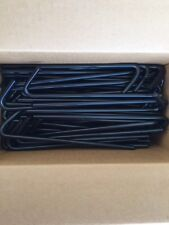 """(50) Count Box of Black Steel Stakes,10"""" long, Great for Tarps! 31210BBKBX50"""