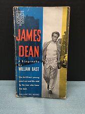 RARE Vintage James Dean: A Biography by William Bast 1956 Ballantine Paperback