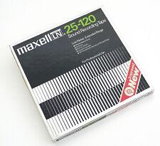 MAXELL LN 25-120 Sound Recording Tape Plastik-Spule + Bandmaterial OVP 57