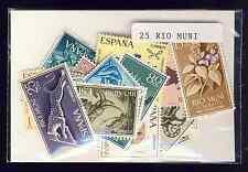 Rio Muni 50 timbres différents