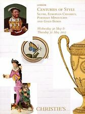 Silver European Ceramics Portrait Miniature Gold Boxe Tableware Auction Catalog