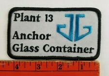 Vintage Anchor Glass Container Plant 13 Patch