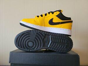 Nike Air Jordan 1 Low GS University Gold Grade School Size 3.5Y 553560-700