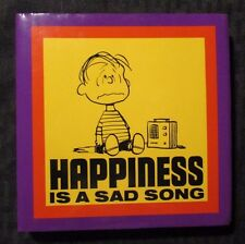 2006 HAPPINESS Is A Sad Song by Charles M Schulz HC/DJ VF/FN- Cider Mill