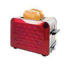 Bm4600 2 Slice Diamond Toaster Red/sainless Steel