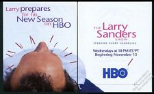 1996 Garry Shandling photo The Larry Sanders Show HBO vintage print ad