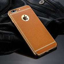 Luxury Ultra-thin PU Leather Soft Phone Case Cover TPU For iPhone7 7 Plus 5 6 6s