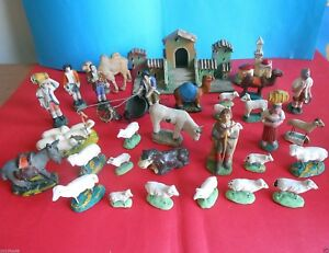 pecore animali presepe statuine presepi statue gesso terracotta primi 900 cribs